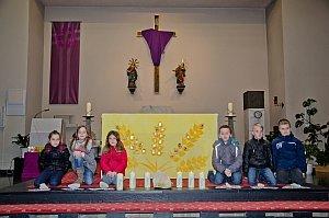 Gottesdienst mit Gruppe 2 der Erstkommunionskinder, 13.03.2016