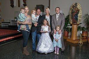 Familienfotos zur Erstkommunion in Neufeld, 24.04.2016