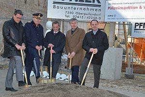 Spatenstich Polizeiinspektion Hauptstraße 12, 22.03.2013