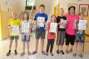 Siegerehrung zur Kids-Olympiade in der VS Neufeld, 25.06.2014