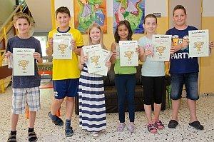 Siegerehrung zur Kids-Olympiade in der VS Neufeld, 26.06.2015